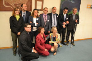 The EDbU Representatives together with MEP Davor Ivo Stier, MEP Adam Kosa and MEp Helga Stevens