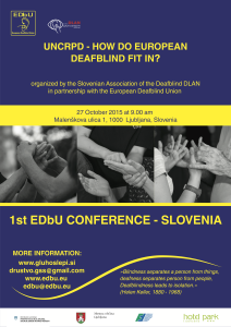 UNCRPD_How do European Deafblind Fit In?